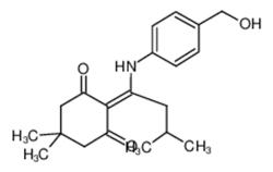 2-{1-[4-(羟甲基)苯氨基]-3-甲基亚丁基}-5,5-二甲基-1,3-环己二酮